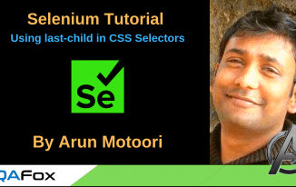 Selenium Locators – Using last-child in CSS Selectors
