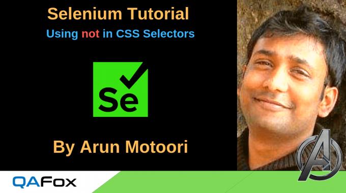 Selenium Locators – Using not in CSS Selectors