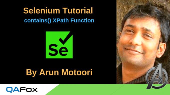 Selenium Locators – contains() XPath Function
