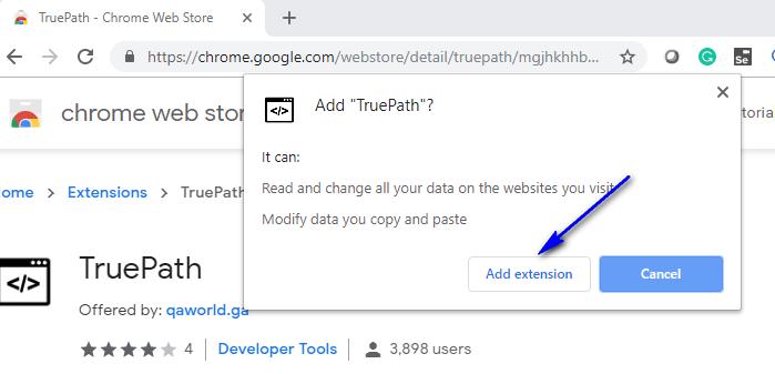 TruePath Chrome - Add Extension