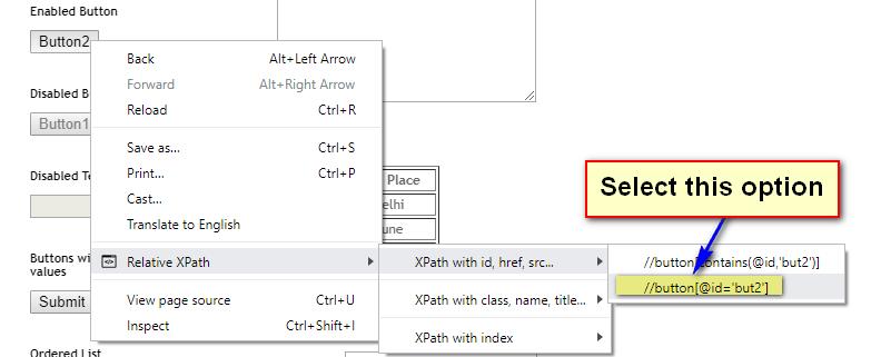 TruePath Chrome - Option Selected