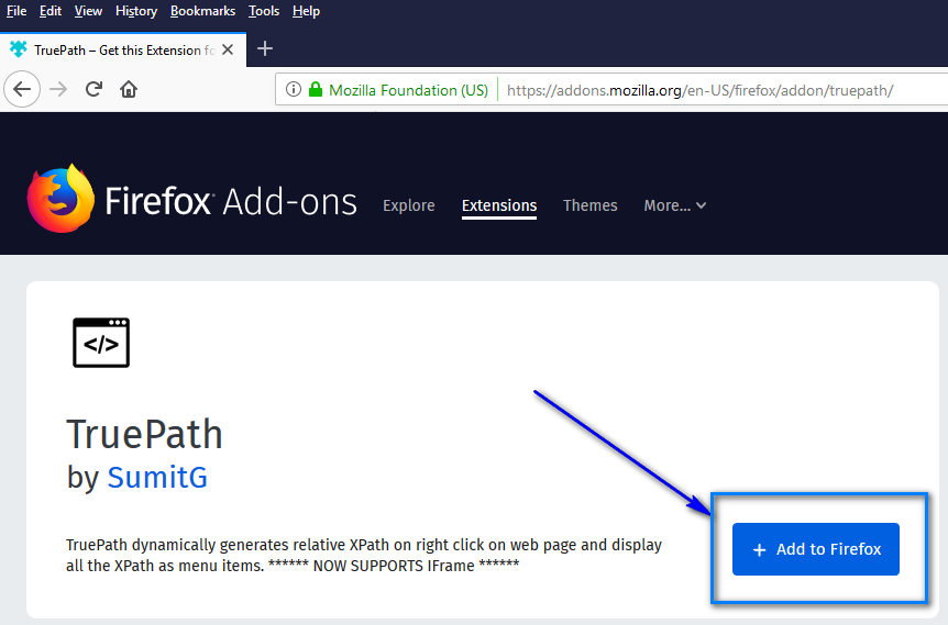 TruePath Firefox - Add to Firefox