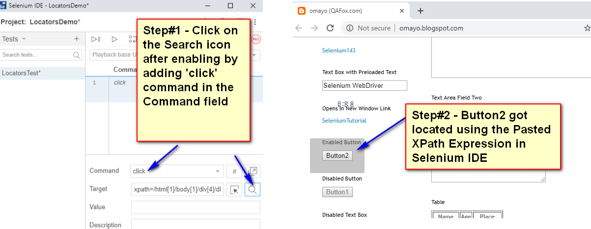 Using ChroPath - XPath Located UI element