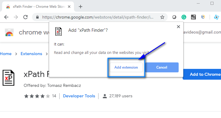 XPath Finder - Add Extension