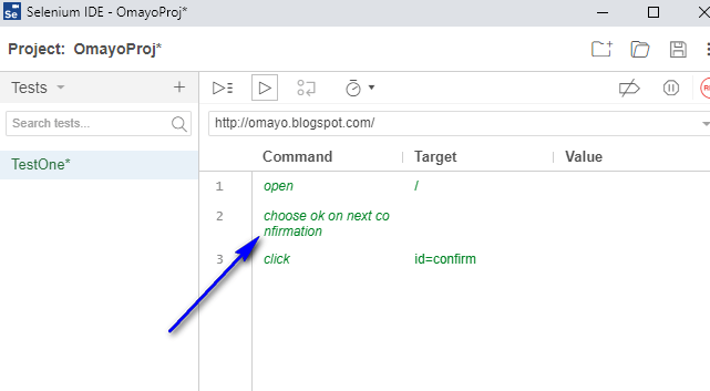 coonc Selenium IDE - executed