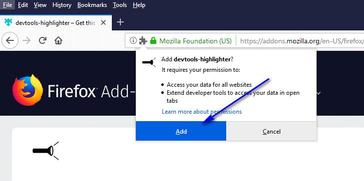 devtools-highlighter - add