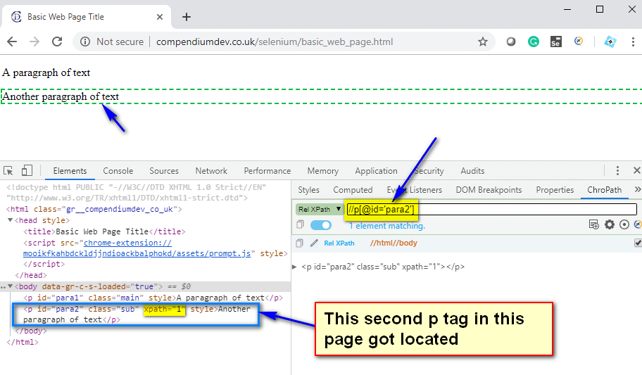 preceding XPath AXES - second p tag
