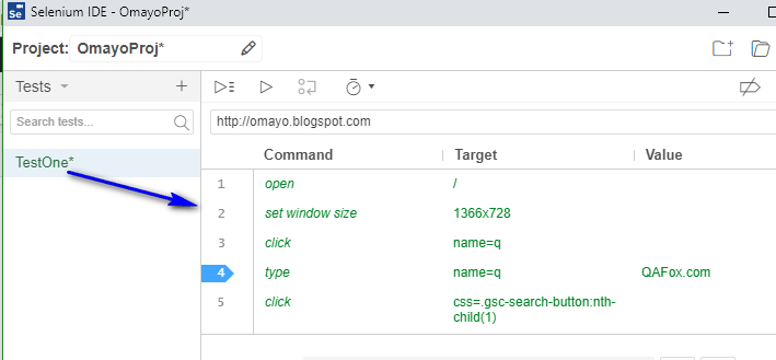 Debugging options Selenium IDE - executed completely