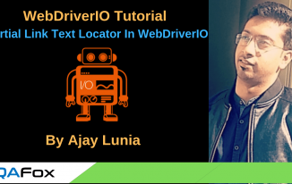 Partial Link Text Locator in WebDriverIO