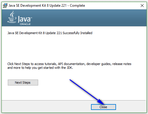 Install and configure Java - close