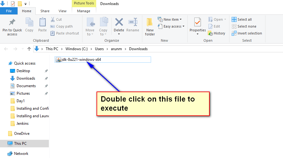 Install and configure Java - double click