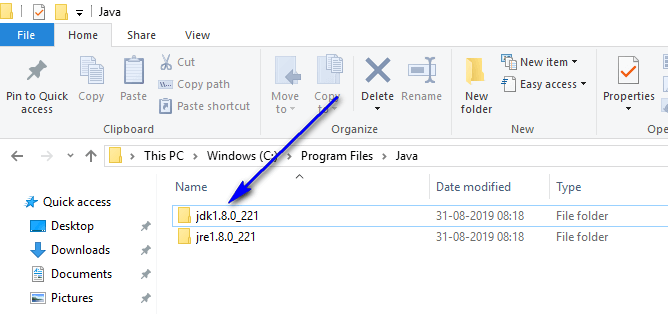 Install and configure Java - jdk folder