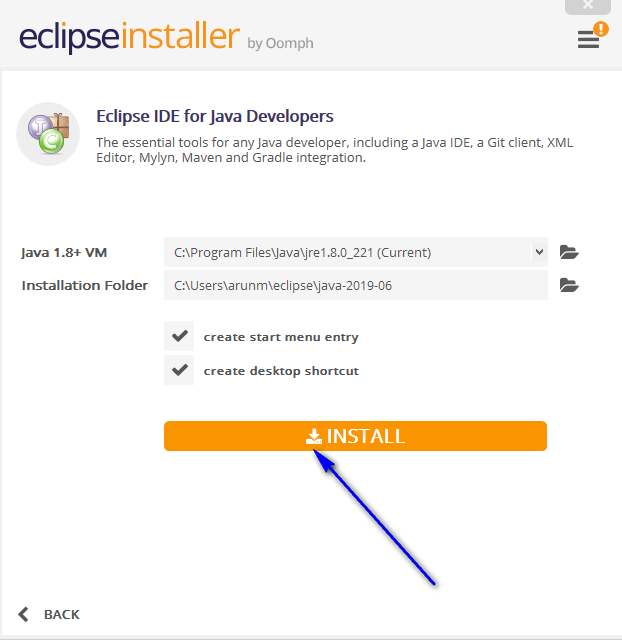 Installing and Launching Eclipse IDE - Install