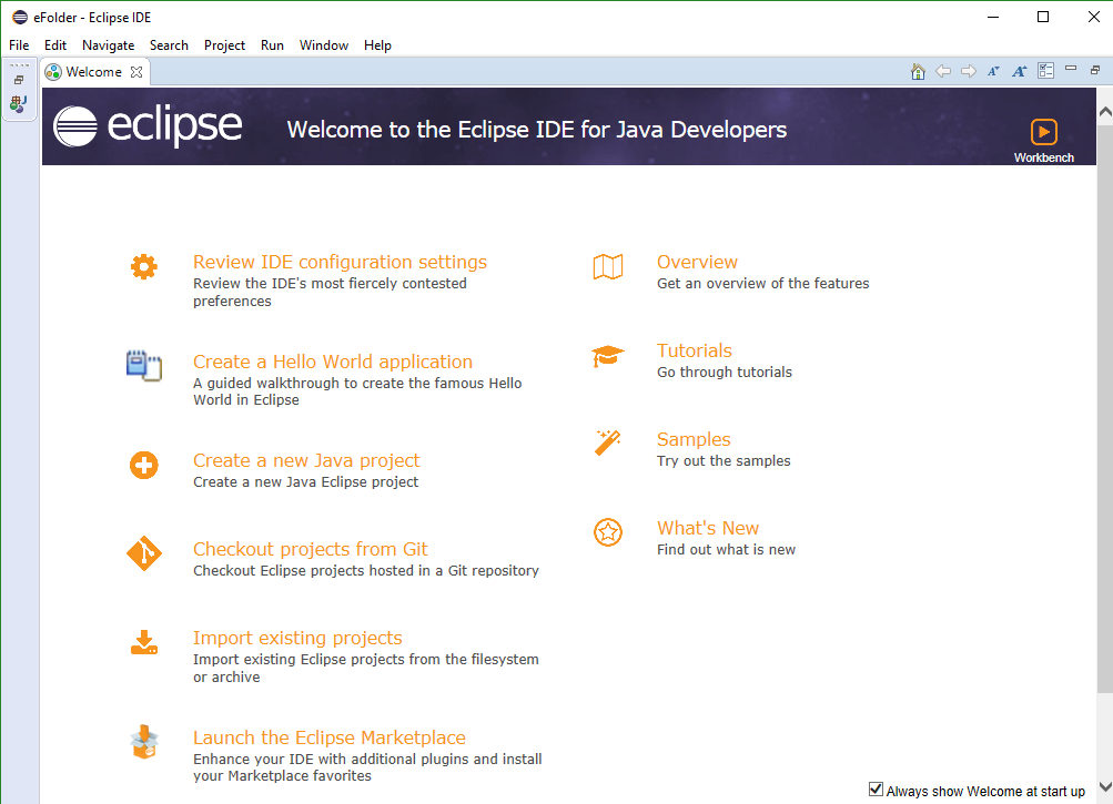 Installing and Launching Eclipse IDE - Launched