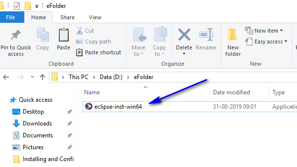 Installing and Launching Eclipse IDE - move