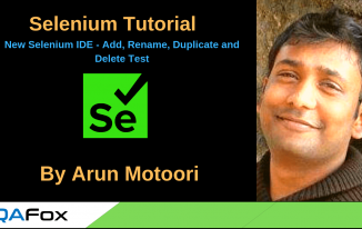 New Selenium IDE – Add, Rename, Duplicate and Delete Test