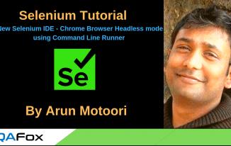 New Selenium IDE – Chrome Browser Headless mode using Command Line Runner