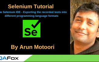 New Selenium IDE – Exporting Recorded Tests in different programming language formats