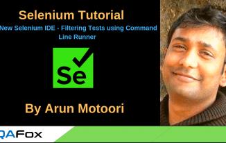 New Selenium IDE – Filtering Tests using Command Line Runner