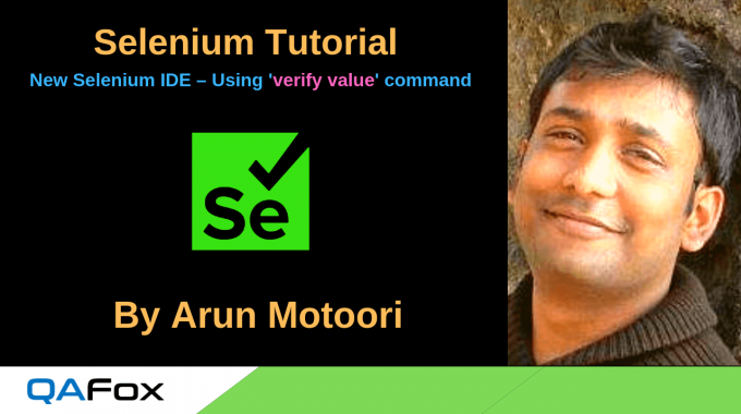 New Selenium IDE – Using 'verify value' command
