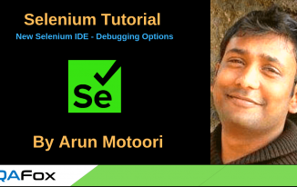 New Selenium IDE – Debugging options