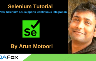 New Selenium IDE supports Continuous Integration