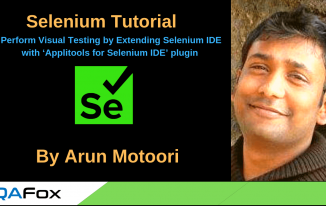 Perform Visual Testing by Extending Selenium IDE with 'Applitools for Selenium IDE' plugin