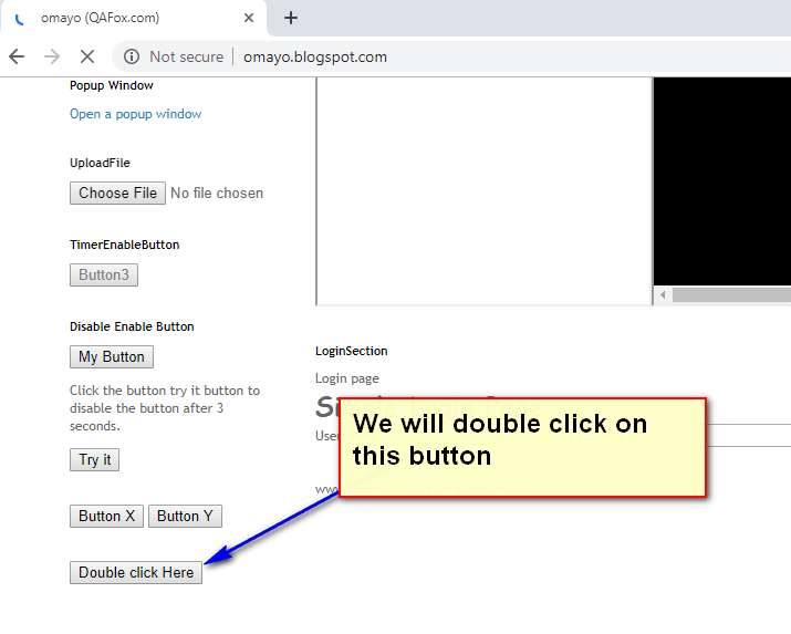 double click Selenium IDE - demo