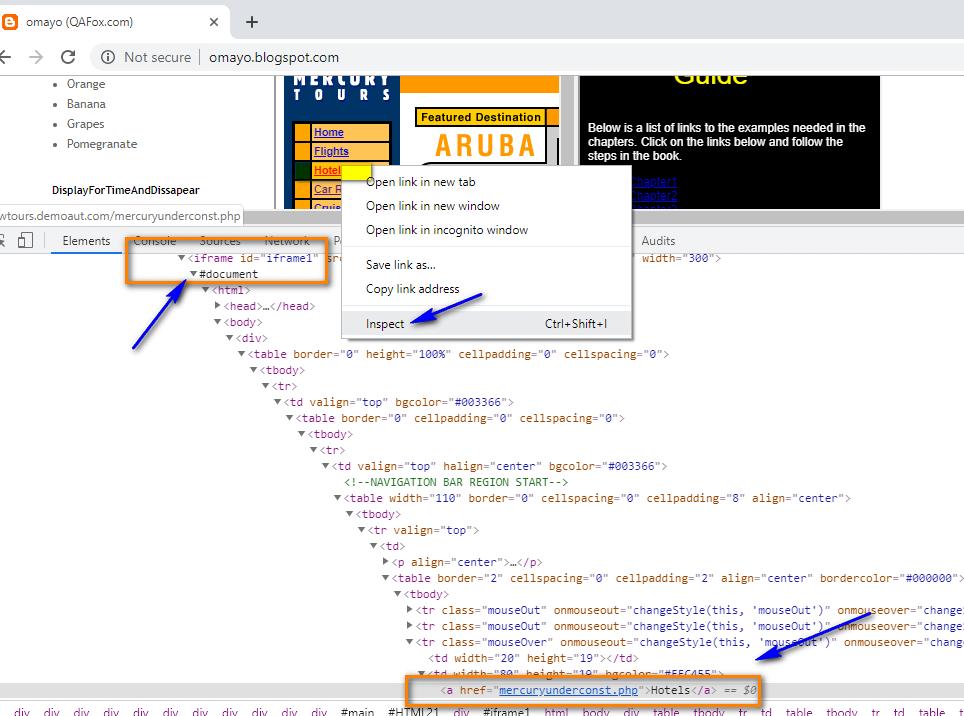 select frame Selenium IDE - insideIframeCode