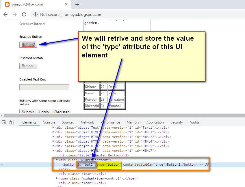 store attribute Selenium IDE - demo