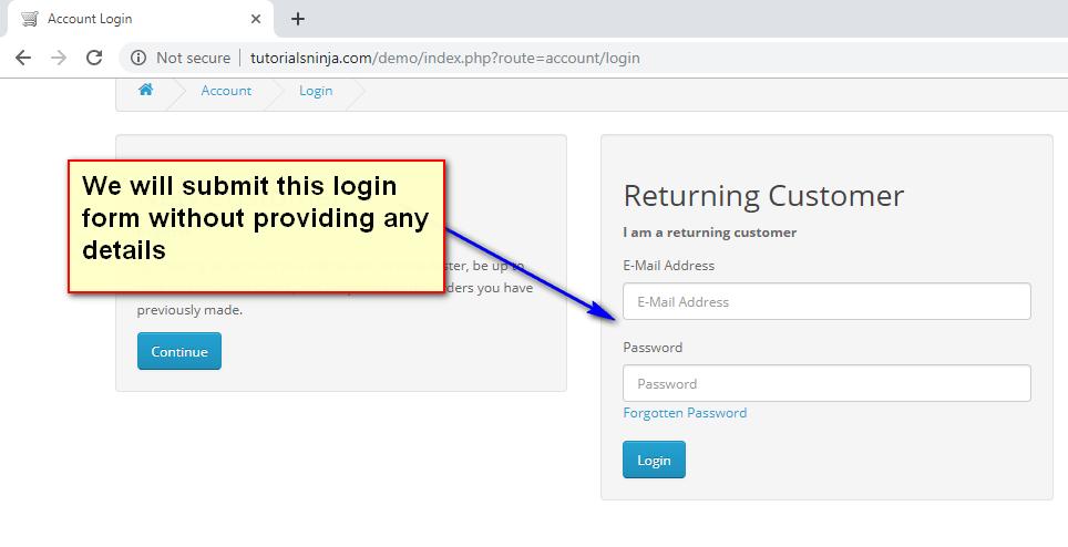 submit Selenium IDE - demo