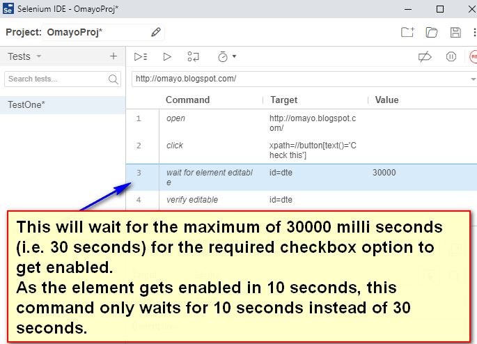 wait for element editable - typing