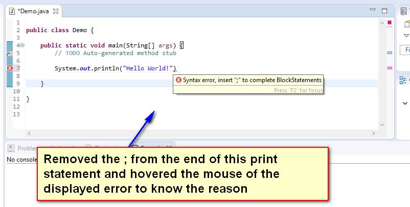 Compiler Errors Java - error one displayed