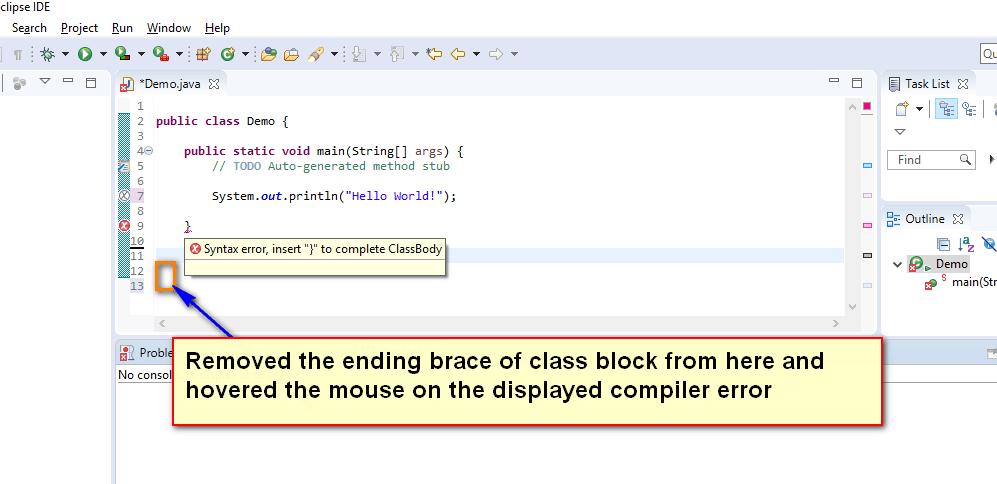 Compiler Errors Java - error three displayed
