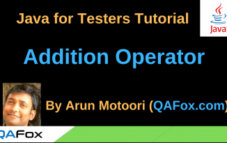 Java for Testers – Addition Operator