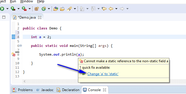 Java for Testers - change variable to static