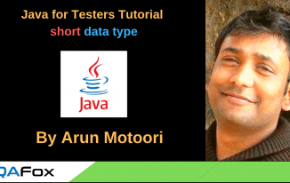 Java for Testers – short data type