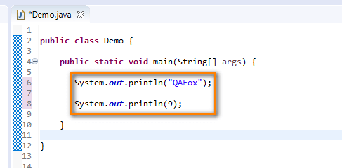 Print Shortcut Eclipse IDE - print statements