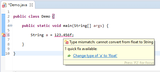 String assign different - float