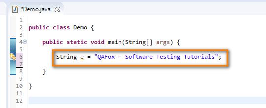 Using Data Types Java - String