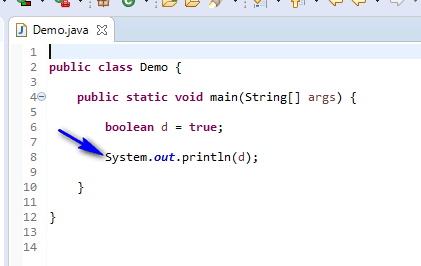 Using Data Types Java - boolean printed