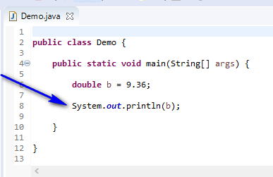 Using Data Types Java - print double