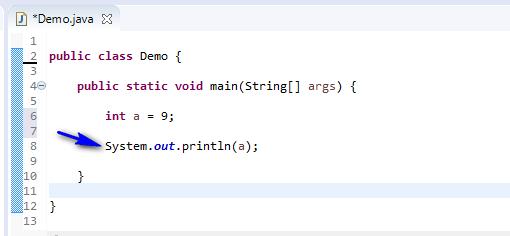 Using Data Types Java - print int