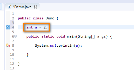 Using Variables in Java - instance variable