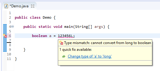 boolean assign different - long