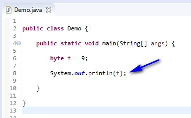byte data type Java - byte print