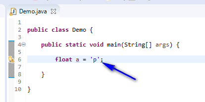 float assigned different - float assign character