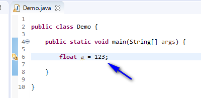 float assigned different - float assign integer