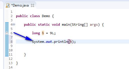 long data type Java - long print