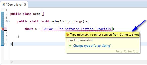 short assigned different - string to short compiler error